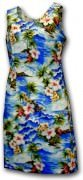 Pacific Legend Hawaiian Tank Dress - 315-3238 - Blue
