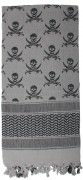 Rothco Skulls Shemagh Tactical Desert Scarf Grey 8539