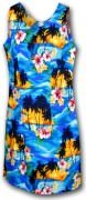 Pacific Legend Hawaiian Short Tank Dress - 315-3104 Blue