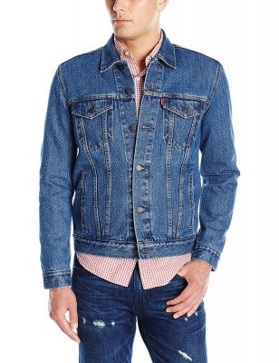 жинсовая куртка тракер Levi's Men's The Trucker Jacket Medium Stonewash 723340130, фото