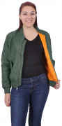 Rothco Womens MA-1 Flight Jacket Sage Green 2420