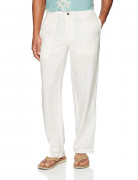28 Palms Relaxed-Fit Linen Pant with Drawstring Cream