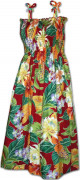 Pacific Legend Hawaiian Tube Dress 332-3799 Red