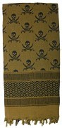 Rothco Skulls Shemagh Tactical Desert Scarf Olive Drab 8539
