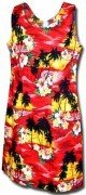 Pacific Legend Hawaiian Short Tank Dress - 315-3104 Red