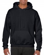Gildan Mens Hooded Sweatshirt Black