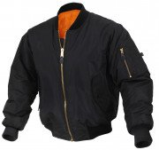 Rothco Enhanced Nylon MA-1 Flight Jacket Black 2890
