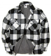 Rothco Extra Heavyweight Buffalo Plaid Sherpa-lined Flannel Shirt White 3739