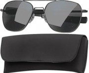 Rothco G.I. Type Aviator Sunglasses 58mm Black Frame / Smoke Lenses 10804