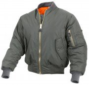 Rothco Enhanced Nylon MA-1 Flight Jacket Sage Green 2860