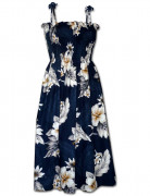 Pacific Legend Hawaiian Tube Dress 332-3162 Navy