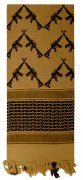 Rothco Crossed Rifles Shemagh Tactical Scarf Coyot - 8737
