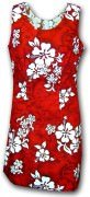 Pacific Legend Hawaiian Short Tank Dress - 315-3156 Red