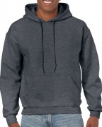 Gildan Mens Hooded Sweatshirt Dark Heather