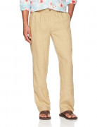 28 Palms Relaxed-Fit Linen Pant with Drawstring Tan