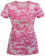 Rothco Womens Long Length Camo T-Shirt Pink Digital Camo - 5683