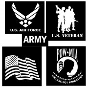 Rothco Military Vinyl Window Decal