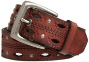 Carhartt Women's Dearborn Studded Leather Belt # Brown
