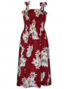 Pacific Legend Hawaiian Tube Dress 332-3162 Red