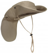 Rothco Adjustable Boonie Hat With Neck Cover Khaki 5906