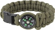 Rothco Paracord Compass Bracelet Olive Drab 958
