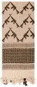 Rothco Crossed Rifles Shemagh Tactical Scarf Tan - 8737