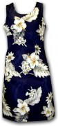 Pacific Legend Hawaiian Short Tank Dress - 315-3162 Navy