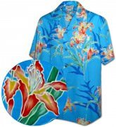 Men's Hawaiian Shirts Allover Prints - 410-3842 Blue