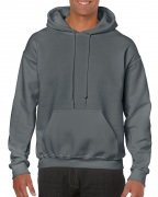 Gildan Mens Hooded Sweatshirt Dark Charcoal