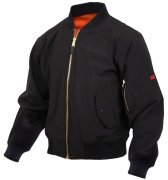 Rothco Soft Shell MA-1 Flight Jacket Black 99750