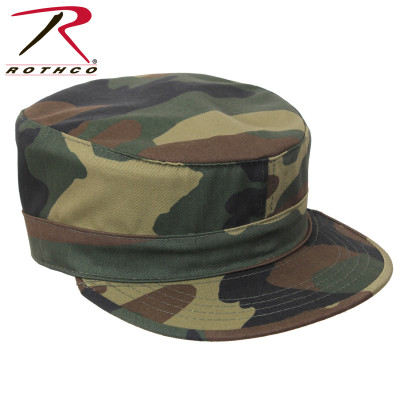 Кепка армейская лесной камуфляж Rothco Adjustable Fatigue Cap Woodland Camo 4540, фото