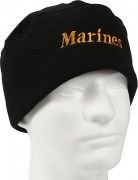 "Шапка флисовая Military Microfleece Watch Cap - Military Microfleece Watch Cap - Black w/ Gold ""Marines"""