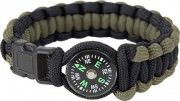 Rothco Paracord Compass Bracelet Olive Drab & Black 999