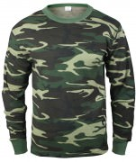 Рубаха термостойкая Rothco Thermal Knit Underwear Top - Woodland Camo - 6100