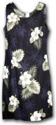 Pacific Legend Hawaiian Short Tank Dress - 315-2798 Black