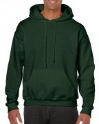 Gildan Mens Hooded Sweatshirt Forest Green