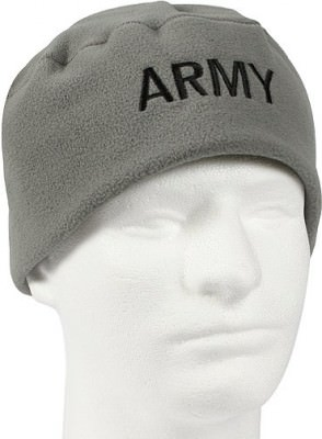 "Шапка флисовая Military Microfleece Watch Cap - Foliage Green w/ Black ""ARMY"", фото"