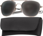 Rothco G.I. Type Aviator Sunglasses 58mm Gold Frame / Smoke Lenses 10804