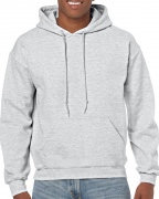 Gildan Mens Hooded Sweatshirt Ash