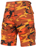 Rothco BDU Short Savage Orange Camo 65004